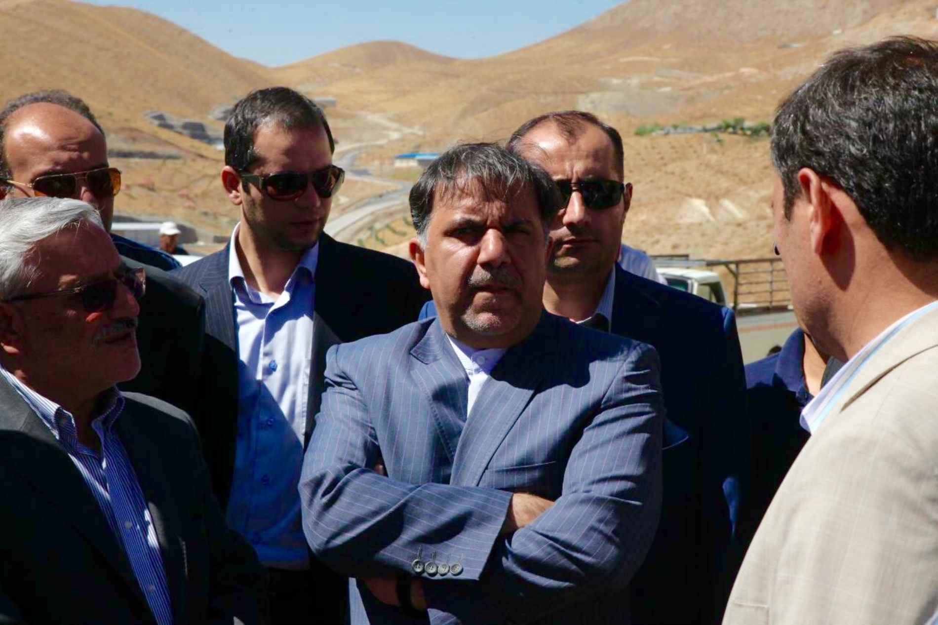 "Site Visit of Minister of Roads & Urban Development from ""Construction of Damavand West Ringway"" Project on September 2016"