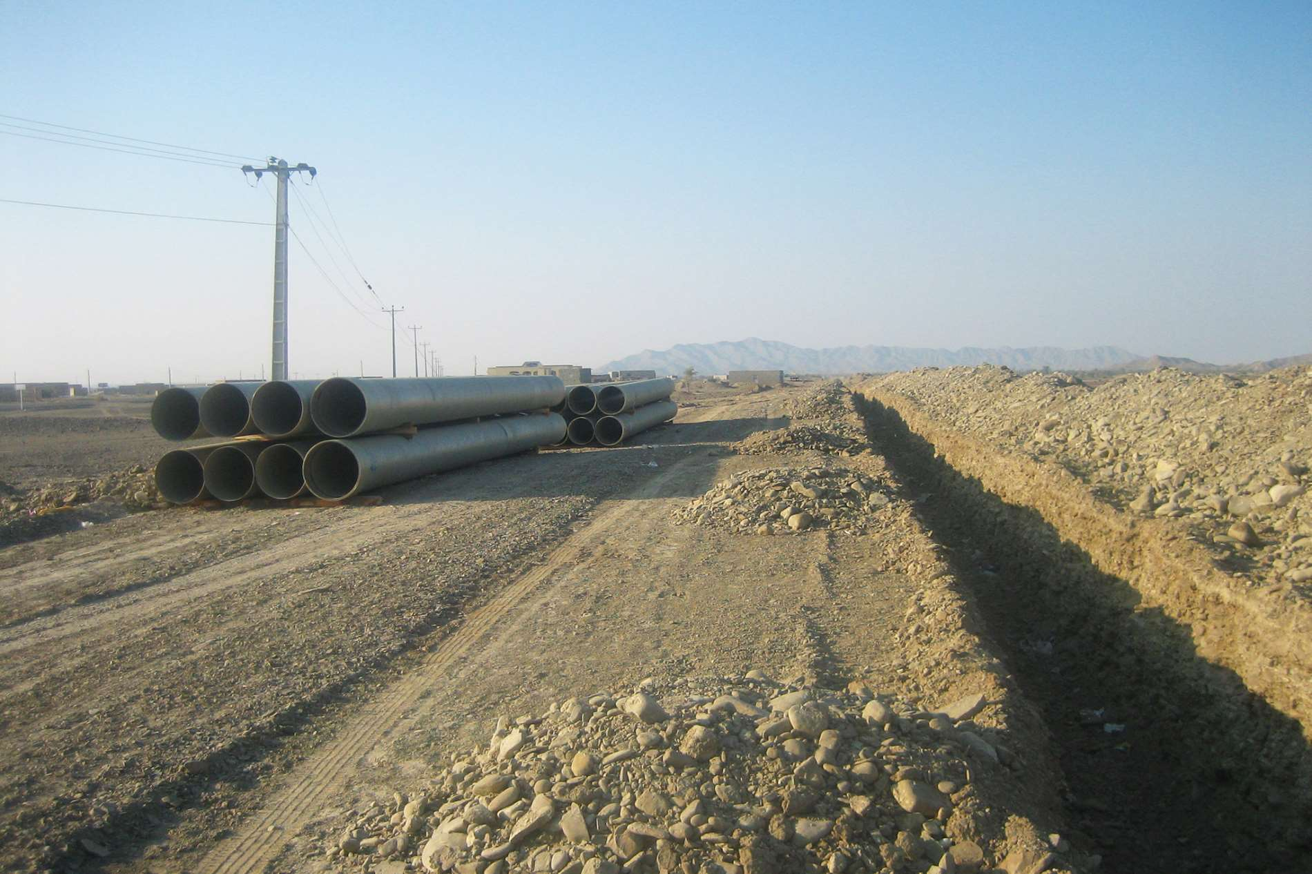 Pipe lines & water conveying network construction