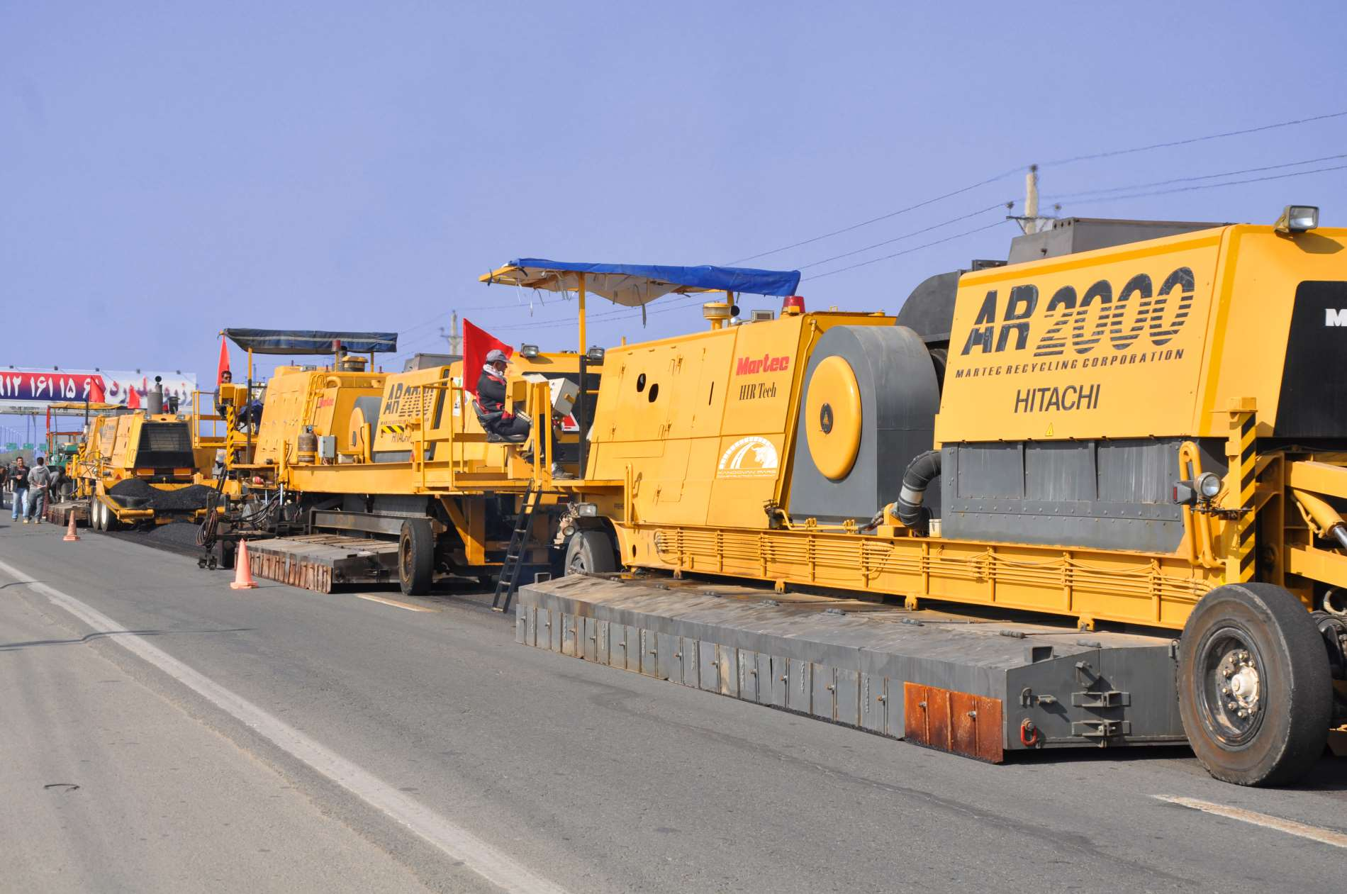 Polymer modified asphalt overlay and hot in-place recycling of Kamalshahr - Abyek road